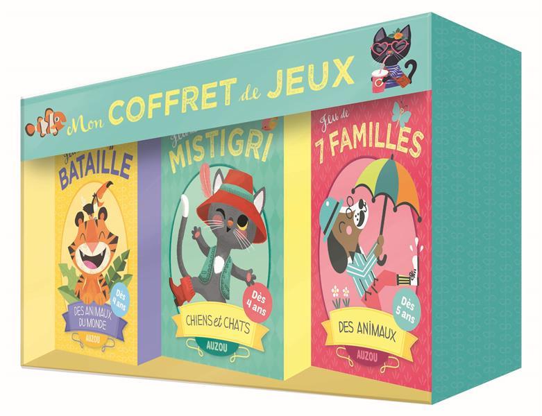 MON COFFRET DE JEUX - 7 FAMILLES, MISTIGRI ET BATAILLE