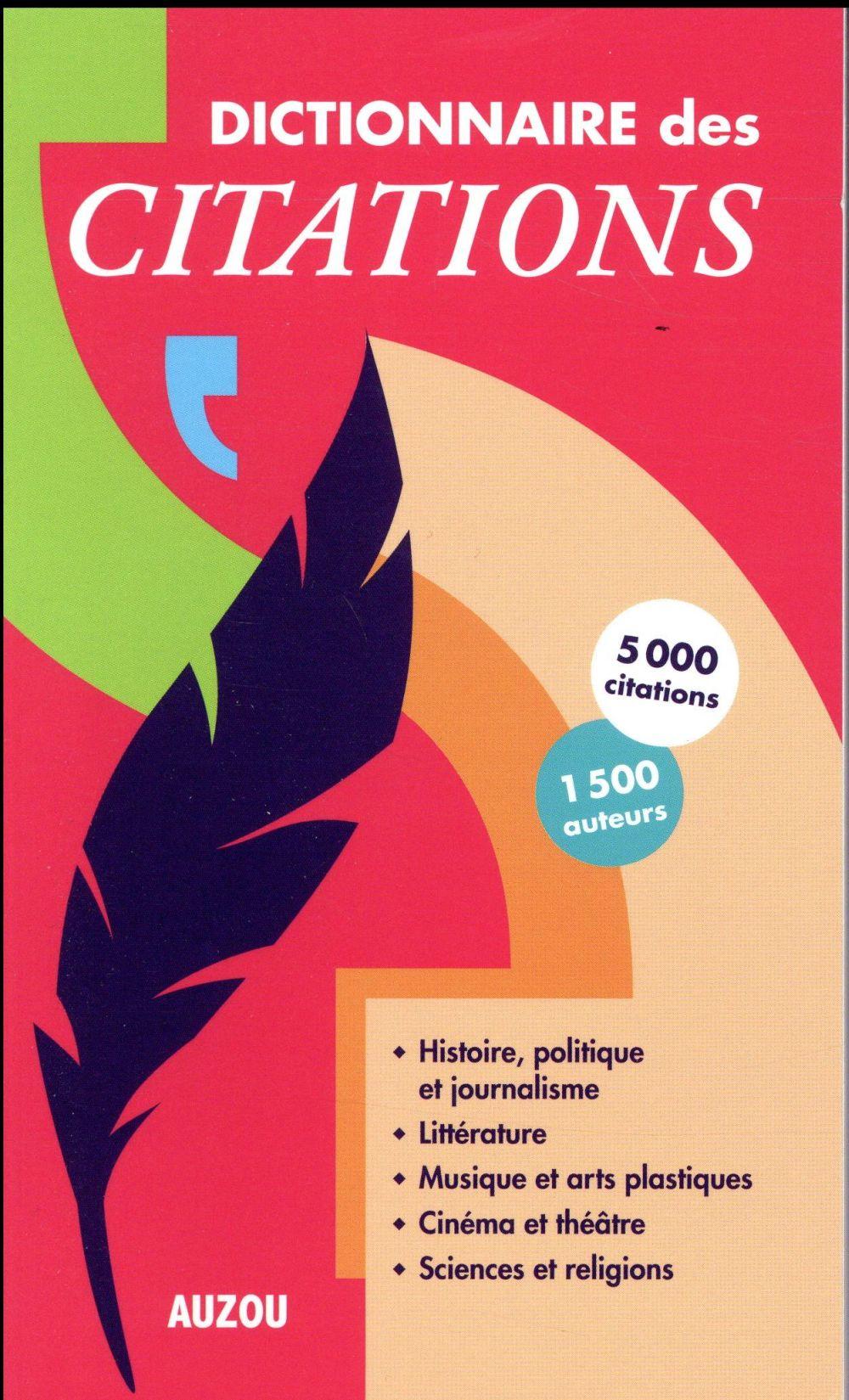 DICTIONNAIRE DES CITATIONS POCHE