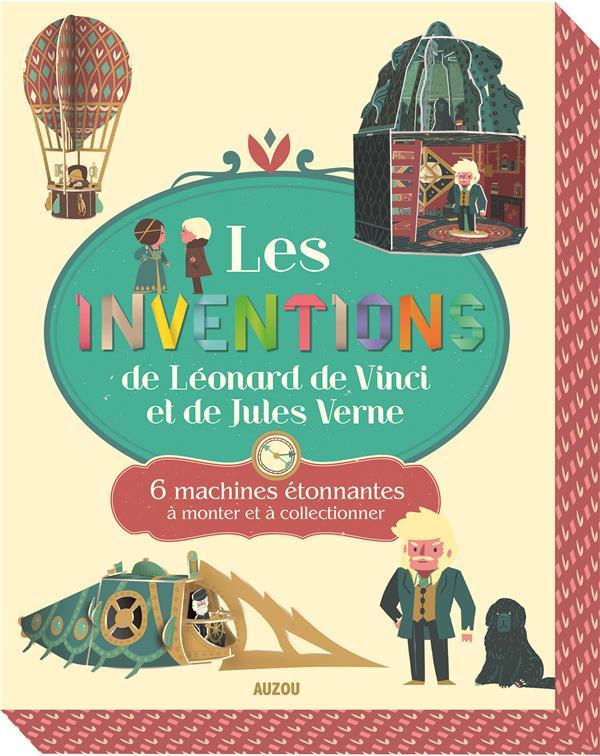 LES INVENTIONS DE LEONARD DE VINCI ET DE JULES VERNE NE (COLL.COFFRET PAPERTOYS) - 6 MACHINES ETONNA