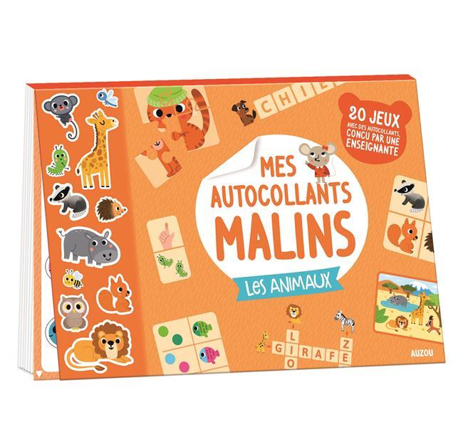 MES AUTOCOLLANTS MALINS - LES ANIMAUX
