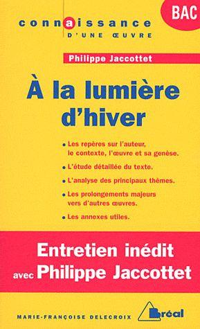 A LA LUMIERE D'HIVER - JACCOTTET