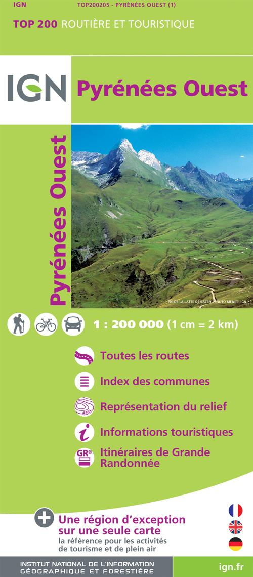 AED TOP200205 PYRENEES OUEST  1/200.000