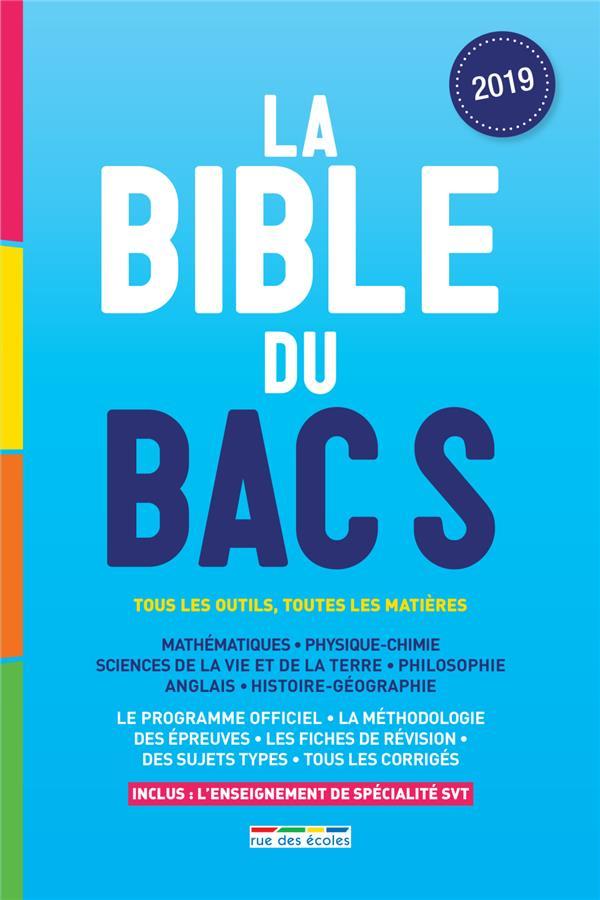 LA BIBLE DU BAC S 2019