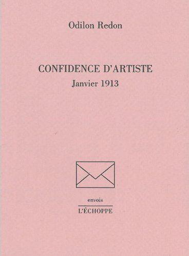 CONFIDENCE D'ARTISTE - JANVIER 1913