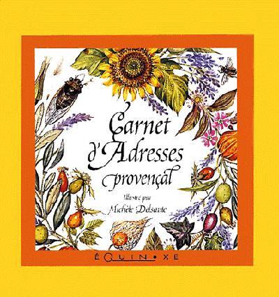 MINI CARNET D ADRESSES PROVENCAL DELSAUTE JAUNE