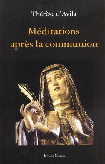 MEDITATIONS APRES LA COMMUNION