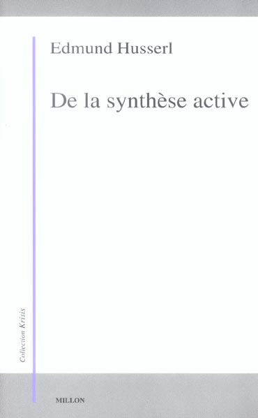 DE LA SYNTHESE ACTIVE