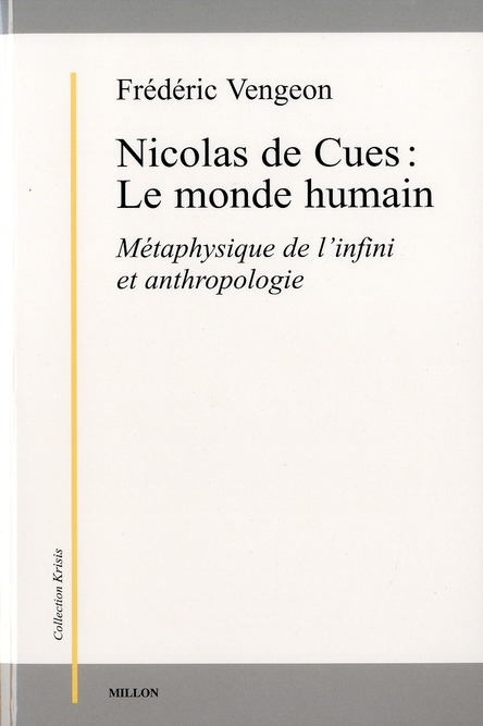 NICOLAS DE CUES : LE MONDE HUMAIN