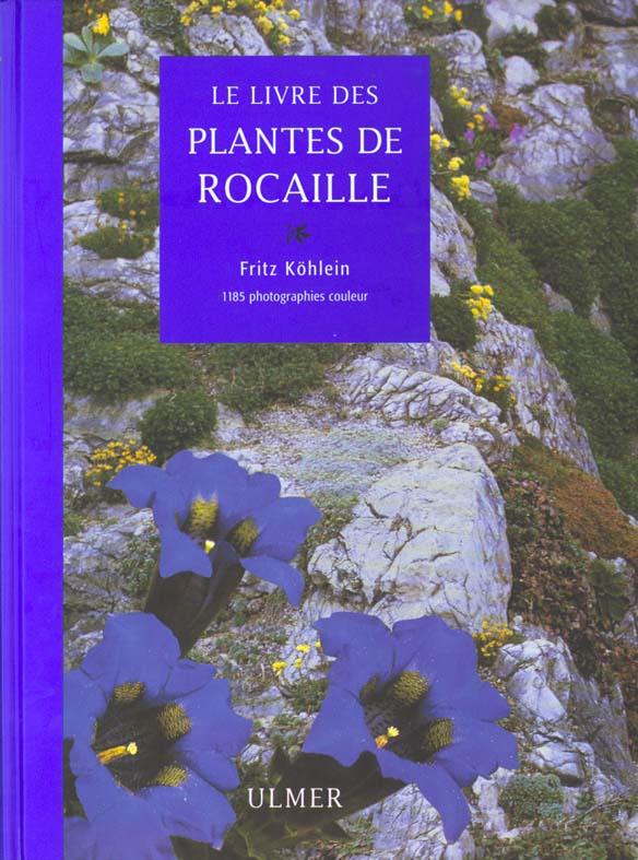 LIVRE DES PLANTES DE ROCAILLE