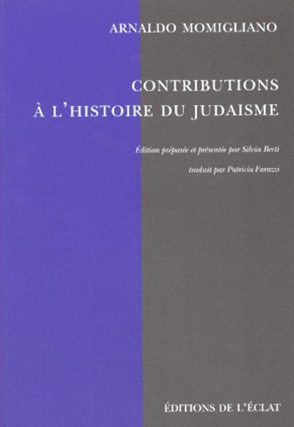 CONTRIBUTIONS A L'HISTOIRE DU JUDAISME