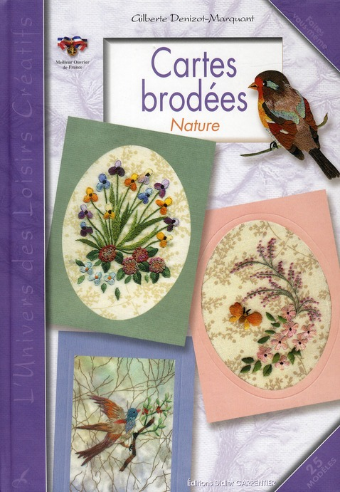 CARTES BRODEES NATURE