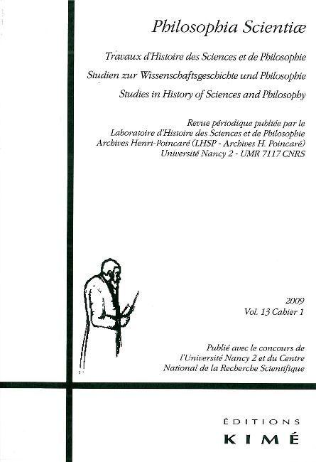 PHILOSOPHIA SCIENTIAE T.13/1 2009