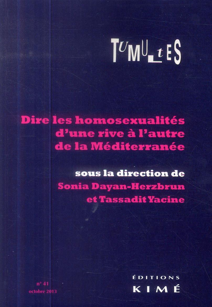 TUMULTES N 41.DIRE LES HOMOSEXUALITES D'UNE RIVE A...