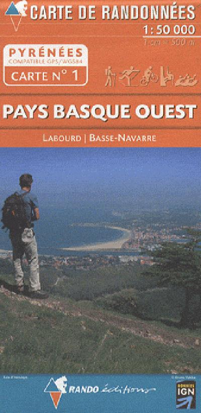 AED 01 PAYS BASQUE OUEST  1/50.000