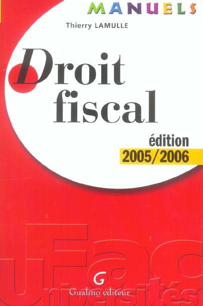 MANUEL - DROIT FISCAL 2005-2006