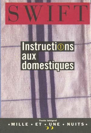 INSTRUCTIONS AUX DOMESTIQUES