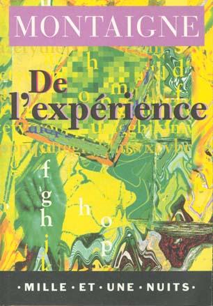 DE L'EXPERIENCE