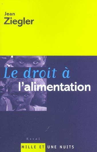 LE DROIT A L'ALIMENTATION