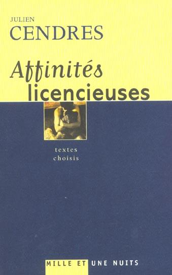 AFFINITES LICENCIEUSES - TEXTES CHOISIS