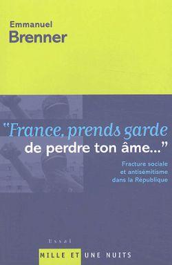 FRANCE PRENDS GARDE DE PERDRE TON AME - FRACTURE SOCIALE ET ANTISEMITISME DANS LA REPUBLIQUE