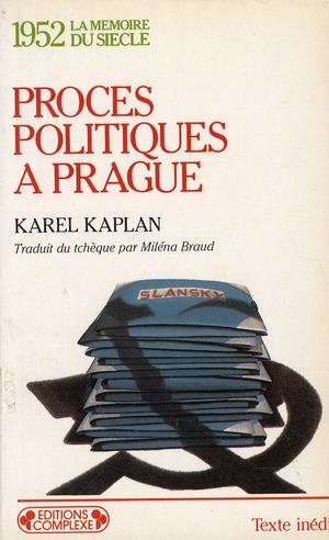 1952  PROCES POLITIQUE A PRAGUE