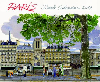 DESK CALENDAR PARIS 2019