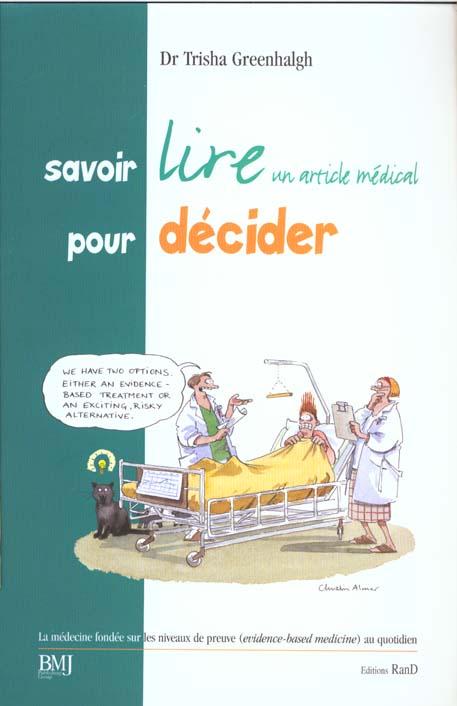 SAVOIR LIRE UN ARTICLE MEDICAL POUR