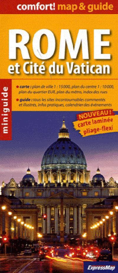 ROME ET CITE DU VATICAN (COMFORT !MAP&GUIDE, CARTE LAMINEE)