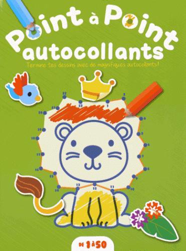 POINT A POINT DE 1 A 50 AUTOCOLLANTS LION