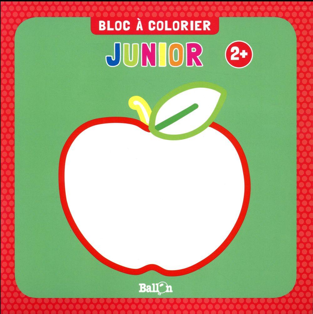 BLOC A COLORIER JUNIOR DES 2 ANS (POMME)