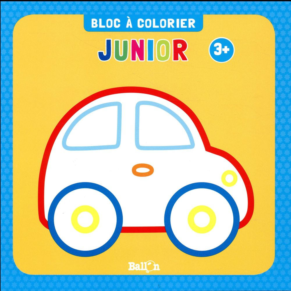 BLOC A COLORIER JUNIOR DES 3 ANS (VOITURE)