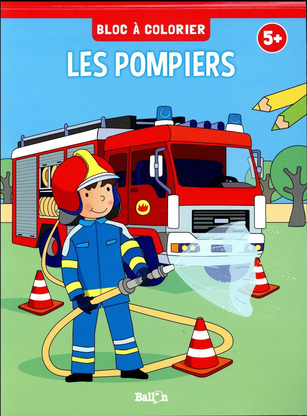 BLOC A COLORIER - LES  POMPIERS