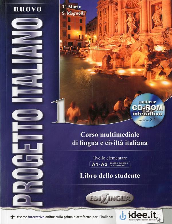 NUOVO PROGETTO ITALIANO / 1 (A1-A2) ELEVE + DVD