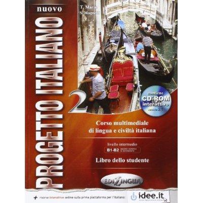 NUOVO PROGETTO ITALIANO / 2 (B1-B2) ELEVE + DVD