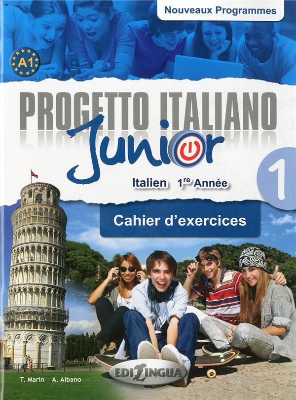PROGETTO ITALIANO JUNIOR 1 POUR FRANCOPHONES - CAHIER D'EXERCICES + DVD