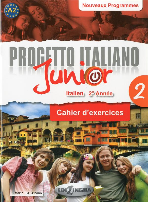 PROGETTO ITALIANO JUNIOR 2 POUR FRANCOPHONES - CAHIER D'EXERCICES + DVD