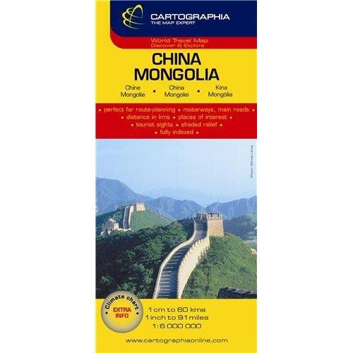 CHINE, MONGOLIE (CARTE CARTOG)