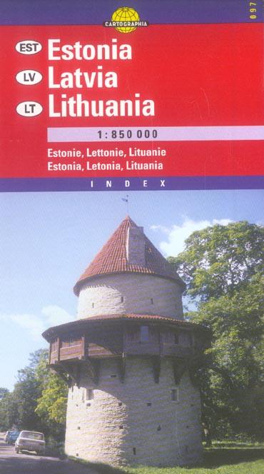 ESTONIE LETTONIE LITUANIE (CARTOG)