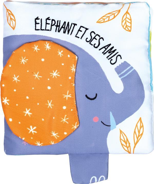 TISSU-BOITE - ELEPHANT ET SES AMIS (AVEC BOITE)