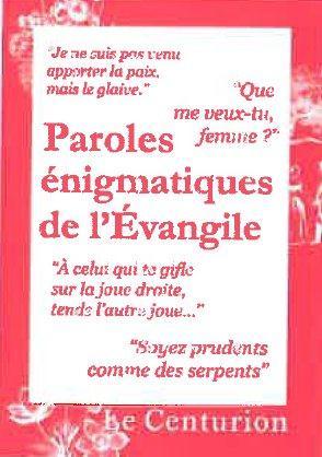 PAROLES MYSTERIEUSES DE L'EVANGILE