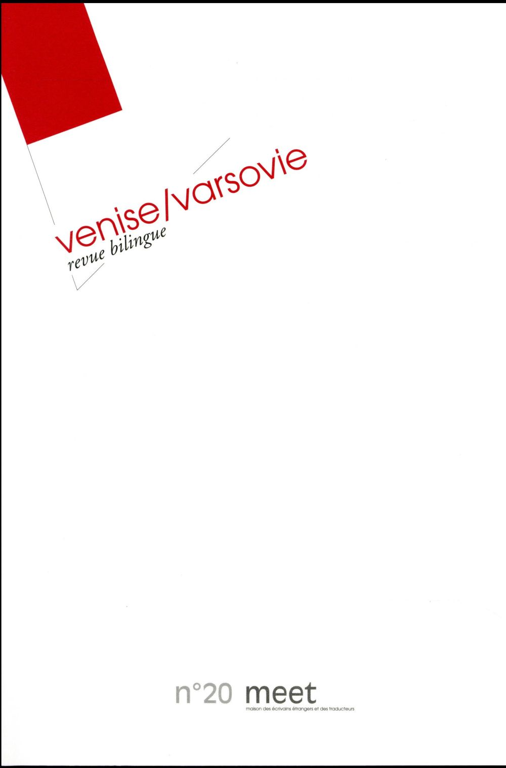 REVUE MEET N20 VENICE VARSOVIE - VENISE / VARSOVIE