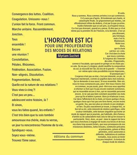 HORIZON EST ICI (L') - POUR UNE PROLIFERATION DES MODES DE RELATIONS