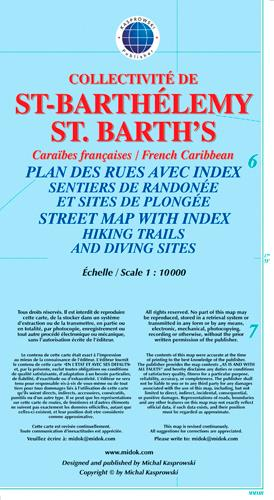 SAINT-BARTHELEMY/ST. BARTH'S (FRENCH CARIBBEAN) - 1/10 000