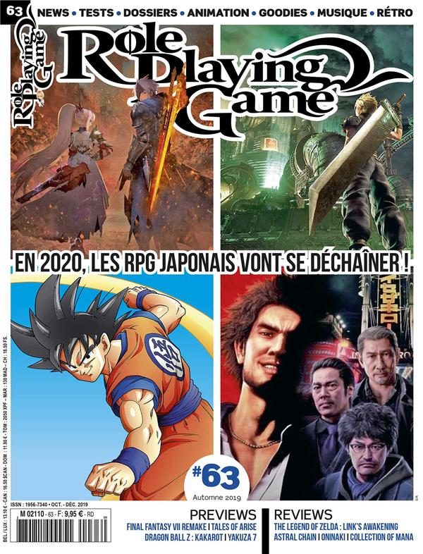 ROLE PLAYING GAME N 63 OCTOBRE/NOVEMBRE 2019