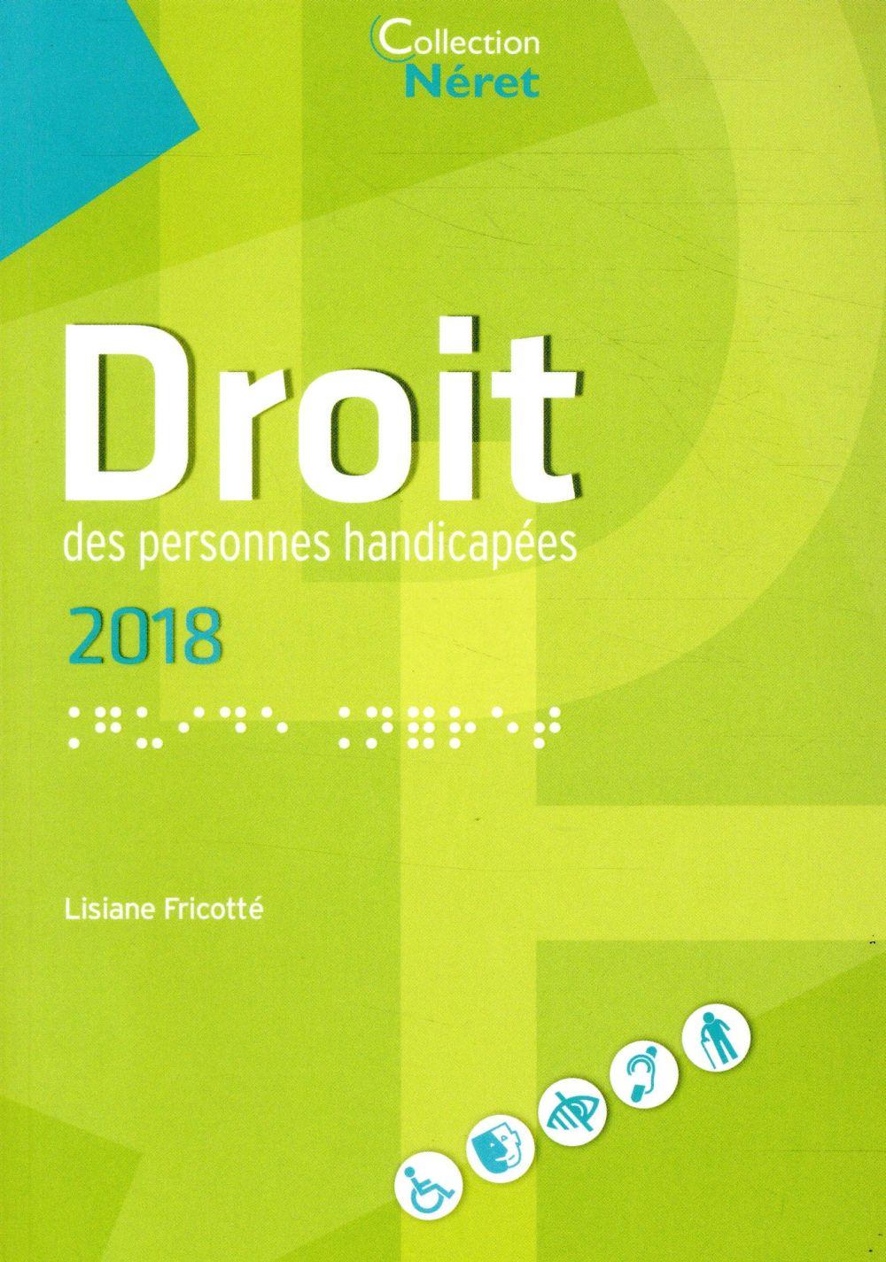 DROIT DES PERSONNES HANDICAPEES 2018